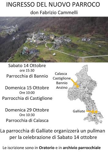 Ingresso di Don Fabrizio a Bannio Anzino