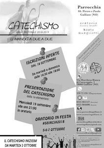 Presentazione Catechismo 2018-2019
