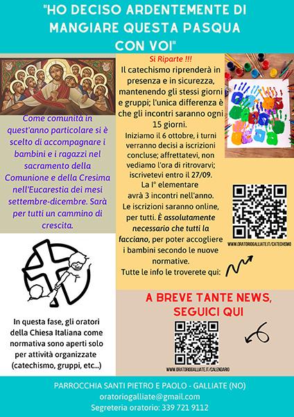 Catechismo – Informazioni ed iscrizioni