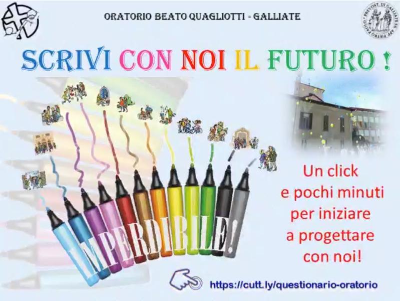 Scrivi con noi il futuro – Oratorio