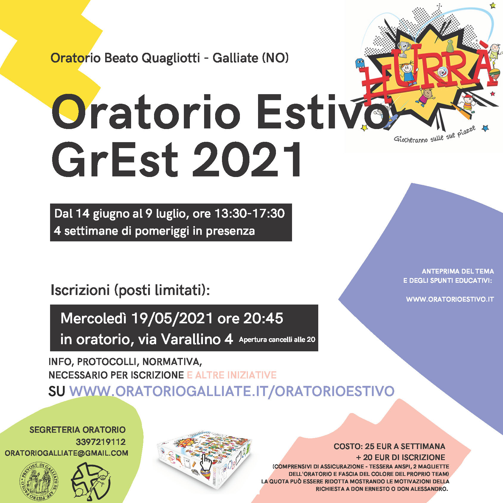 Oratorio Estivo – GrEst – 2021