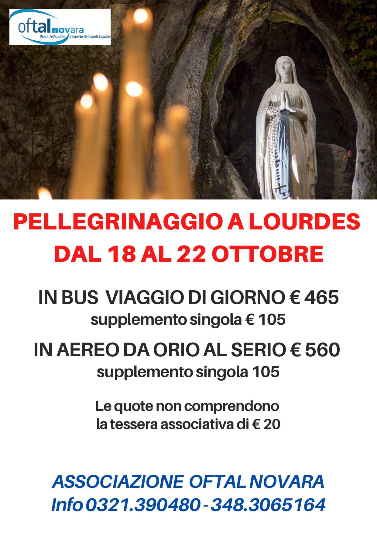 Pellegrinaggio a Lourdes 2021